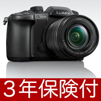 """It is Panasonic LUMIX GH5M lens kit DC-GH5M """"March 23, 2017 release"""" DC-GH5 Body + LUMIX G VARIO 12-60mm / F3 .5-5.6 ASPH./POWER O.I.S.(H-FS12060)[02P05Nov16] [with a liquid crystalline film insurance for three years]"""