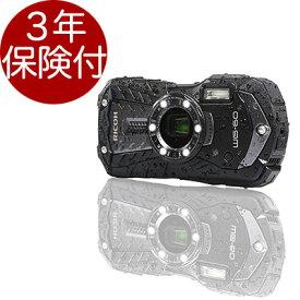 [3年保険付] PENTAX/RICOH WG-60 防水防塵耐衝撃デジカメ ブラック[02P05Nov16]