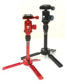 SIRUI テーブル三脚 3T-35(Kブラック/Rレッド)アルミ2段三脚ボール雲台セット【送料無料/レターパックあるいは宅配便での発送】[耐荷重4kg。ハンディカムビデオやカメラの撮影や持ち運びに便利なテーブル三脚。]【smtb-TK】[02P05Nov16]