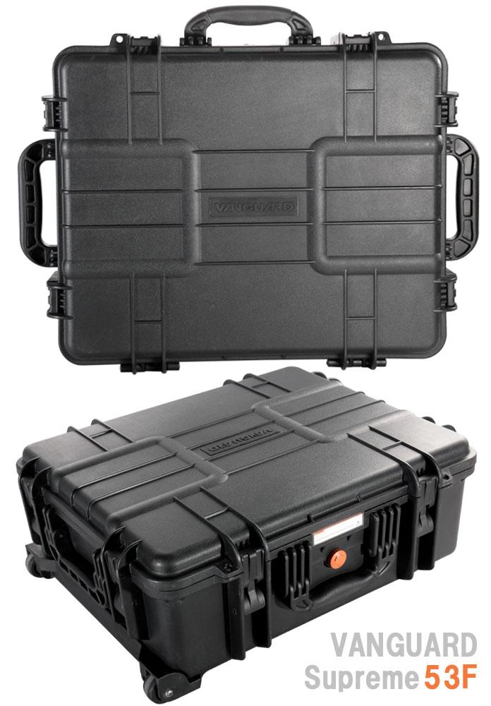VANGUARD シュプリーム53F 防水ハードケース『2〜3営業日後の発送』[最大で120kgの重さに耐えられる強度と優れた耐久性、水深5mまで耐える事のできる防水性と機密性を備えたハードケース。アウトドアに機材を持ち運ぶ際に活躍するケース。]【smtb-TK】[02P24Jan13]