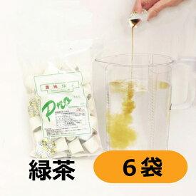 三井農林 WN プロ 濃縮緑茶 18.5g(500mL〜1L分)×30個×6袋 【1ケース 希釈 大容量 まとめ買い 業務用】