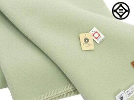 スリープイン ウール毛布毛羽部 あたたかい 毛布 140x200cm シングルサイズ 公式三井毛織 国産E405Gグリーン色送料無料