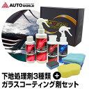 【4時間限定 クーポン利用で15%OFF】 洗車セット コーティング 下地処理剤 ガラス系コーティング AXZES (CWS01) 日本…