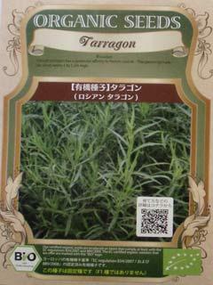 有機種子 【ハーブの種子】 タラゴン(ロシアン タラゴン) 0.03g