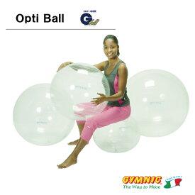 フィットネスやダイエットに!ギムニク オプティボール55バランスボール・55cm・透明