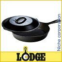 ロッジ ロジック・スキレット&カバーセット 9インチ [ L6SK3 ]LODGE LOGIC SKILLET PANS[クッカー アウトドア用品 バーベキュー...