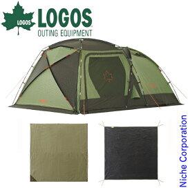 ロゴス テント PANELスクリーンドゥーブルXLチャレンジセット キャンプ ドーム型テント 5人 家族 ファミリー