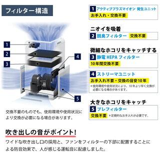 ダイキンストリーマ空気清浄機ホワイトMC55W-W花粉対策製品認証25畳