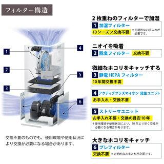 ダイキン加湿ストリーマ空気清浄機ダークグレーMCK55W-H花粉対策製品認証加湿空気清浄機25畳加湿器タバコ花粉ペットホコリニオイ脱臭PM2.5コンパクト