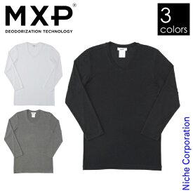 エムエックスピー リュクセルウォーム Vネック8分袖シャツ(メンズ) MX15342