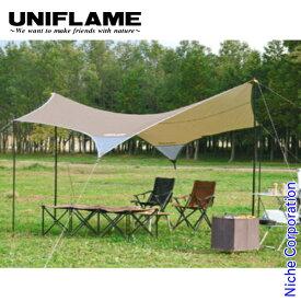 ユニフレーム REVOタープII (M) TAN 681800 キャンプ用品