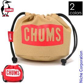 チャムス ロゴドローストリングツールケース S CH60-3051 キャンプ ガス 収納 キャンプ用品 ガスカートリッジカバー