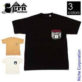 grn outdoor MUSHIMUSHI ショートスリーブTシャツ GO0108F メンズ 春夏 防虫
