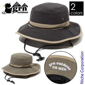 grn outdoor GO MEN HAT GO9417 サファリハット 日よけ付き