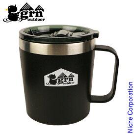 grn outdoor MAGU350 GO0440F-BLK マグカップ フタ付き 350ml 保温 保冷