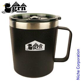 grn outdoor MAGU500 GO0441F-BLK マグカップ 大きい 500ml フタ付き 保温 保冷