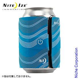 ナイトアイズ スラップリットLEDドリンクラップ ブルー SLDW-03-R3 缶 瓶 保冷 カバー ドリンクマーカー LEDライト 保温