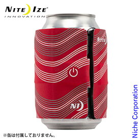 ナイトアイズ スラップリットLEDドリンクラップ レッド SLDW-10-R3 缶 瓶 保冷 カバー ドリンクマーカー LEDライト 保温