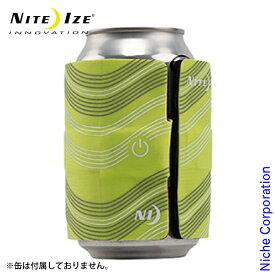 ナイトアイズ スラップリットLEDドリンクラップ ネオンイエロー SLDW-17-R3 缶 瓶 保冷 カバー ドリンクマーカー LEDライト 保温