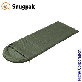 スナグパック ノーチラス スクエア レフトジップ オリーブ SP14653OL アウトドア シュラフ キャンプ 寝袋 Snugpak
