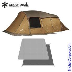 スノーピーク エントリー2ルーム エルフィールド & マットシートセット テント キャンプ ツールーム アウトドア キャンプ用品 4人用 ファミリー お1人様1点限り