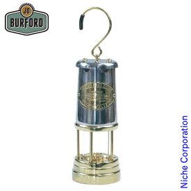 JDバーフォード マイナーズランプ Lサイズ ニッケル&ブラス 29854 ランタン オイルランプ キャンプ用品