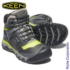 キーン リッジ フレックス ミッド WP スチールグレー/イヴニングプリムローズ メンズ 1024912 トレッキングシューズ 防水 登山靴 ハイキングシューズ