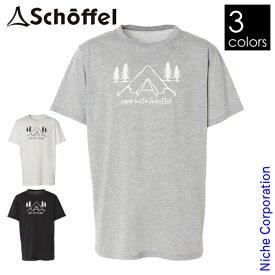 Schoffel(ショッフェル) リサイクルハーフスリーブTシャツ ツェルト柄 8046144 吸水速乾 UVカット 100%リサイクル素材