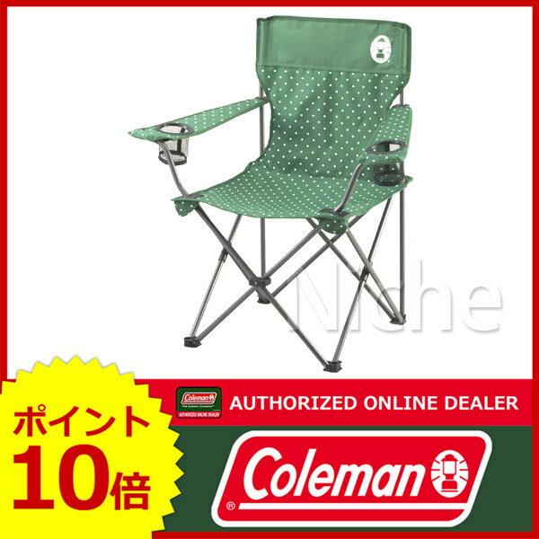コールマン リゾートチェア (グリーンドット) 2000026735 [P10] イス キャンプ用品