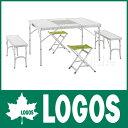 ロゴス BBQベンチテーブルセット6 (メイプル) [ 73183002 ] [ LOGOS ロゴス ][P10] テーブル セット 折りたたみ