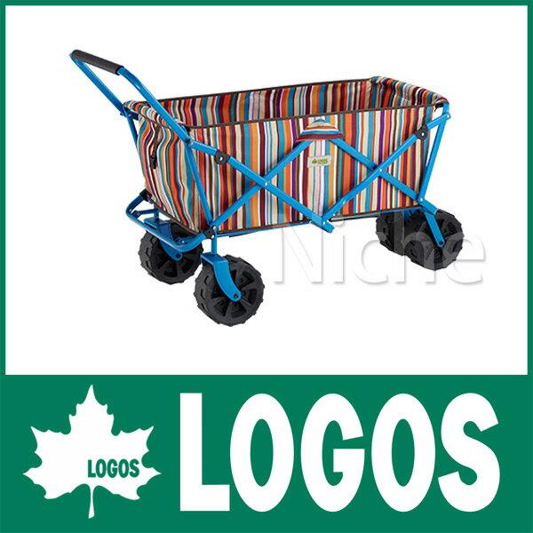 ロゴス (悪路OK) ストライプ キャリートラック(オレンジ) [ 84720711 ] [ アウトドアワゴン アウトドア ワゴン キャンプ用品 ][P10] カート テント タープ