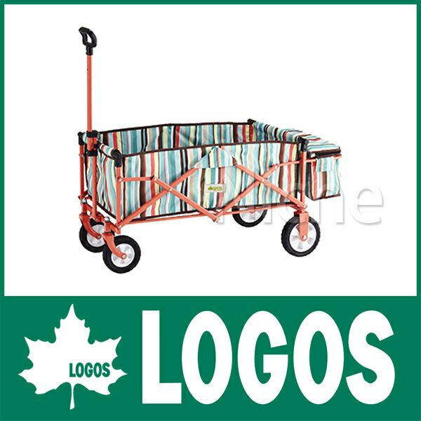 ロゴス ストライプ スマートキャリー with BOX(ブルー) 84720712 [P10] カート キャンプ用品