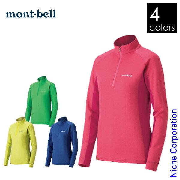 モンベル mont-bell メリノウールプラス アクション ジップネック Women's #1104973