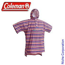 コールマン トレックレインポンチョ (フェスウェーブ/ピンク) 2000013466 nocu キャンプ用品 レインウエア 雨合羽 レインコート