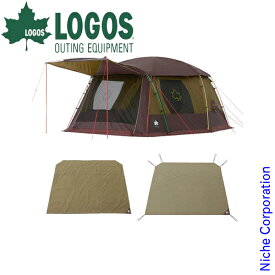 ロゴス プレミアムPANELリビングプラスセット 71809547 nocu キャンプ 用品 テント タープ 2ルームテント ツールームテント ファミリー