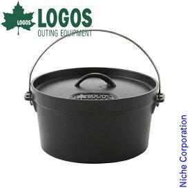 ロゴス クッカー SLダッチオーブン 10inch ディープ ( バッグ付き ) キャンプ ダッジ 鉄 IH