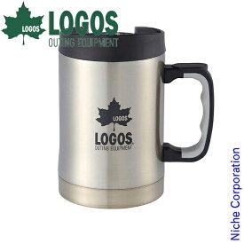 ロゴス 食器 プリメイヤー真空マグ420 ( チャコール ) キャンプ コップ マグカップ 調理器具 来客用 新生活