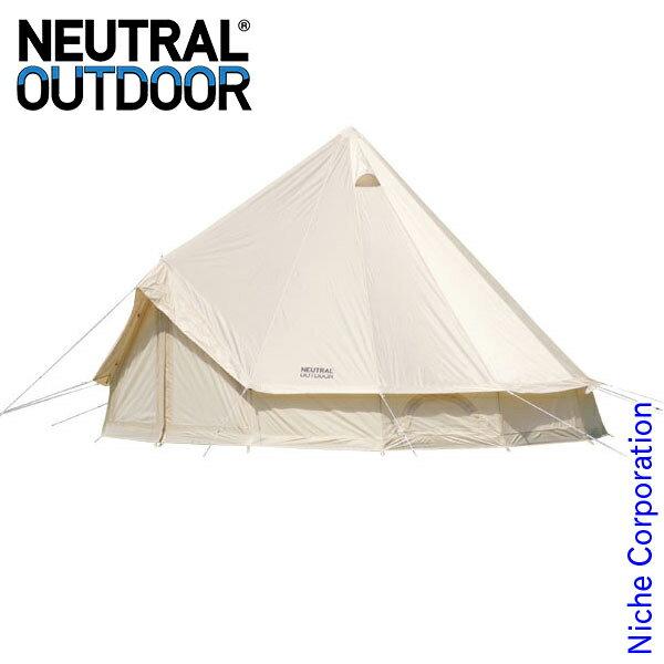 ニュートラルアウトドア GE テント 4m 23458 複数パーティ キャンプ用品 ワンポールテント