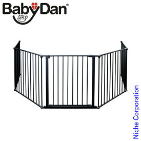 ベビーダン ( BabyDan ) ハースゲート XXL ( ブラック ) ストーブ ゲート 保護 フェンス 薪