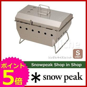 SNOW PEAK IGT系统BBQ BOX焼武者[CK-130][物品有关snow peak ShopinShop SNOW PEAK|酒吧be球杆用品烤肉炉子烤肉烤炉BBQ|露营用品汽车野营][P5][赏花赏花商品]