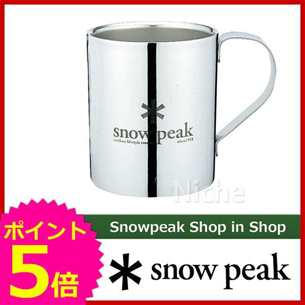 スノーピーク snow peak スノーピークロゴダブルマグ 330 [ MG-113R ][P5]
