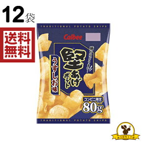 【販路限定品】カルビー 堅あげポテト うすしお味 80g×12袋