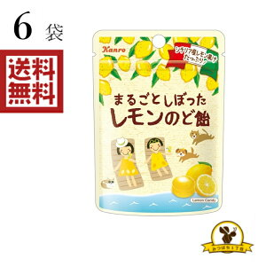 [クリックポスト] 【販路限定品】カンロ まるごとしぼったレモンのど飴 小袋 26gx6袋