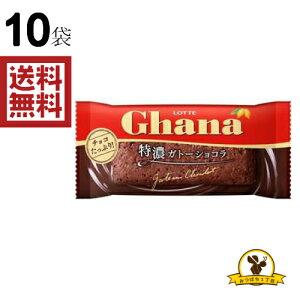 ロッテ ガーナ 特濃ガトーショコラ 半生チョコケーキ 1個入x10袋