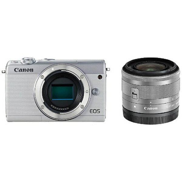【納得の3年保証付き】[キヤノン]EOS M100 EF-M15-45 IS STM レンズキットホワイト