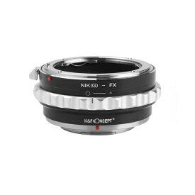 [K&F CONCEPT]KF-NGX2 レンズマウントアダプター(レンズ側:ニコンF→カメラ側:フジX)