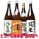 バレンタイン ギフト 日本酒 純米酒 飲み比べ セット プロの選んだ夢の純米酒 福袋 第6弾 一升瓶 1800ml 4本セット 送料無料 お酒 辛口…