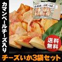 チーズとイカのハーモニー♪北海道名産 カマンベール入りチーズいか×3袋おつまみ 珍味 おやつ【RCP】【送料無料】チーズおやつ いかチ…