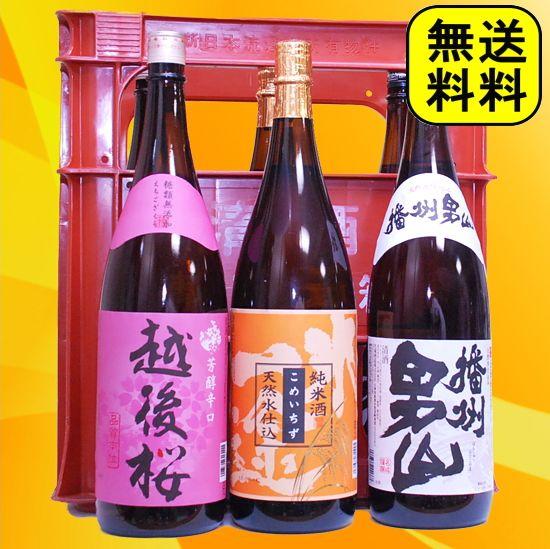 日本酒 お年賀 ギフト 純米酒 2本入った 飲み比べ 激安1800ml 6本 セット 送料無料(プラケース入り) プレゼント