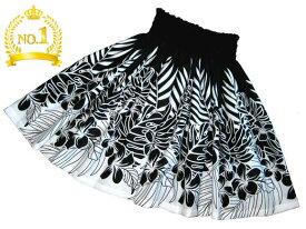 パウスカート 生地 フラダンス パウスカート 大人っぽい パウスカート ブラック ハワイアンキルトのMiu-Mint製作p00132 裾の縫い糸を白に改善しました。